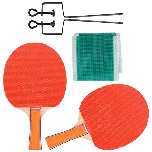Eddwiin Paleta de Tenis de Mesa - Placa Base de Madera Pura Cubierta de Doble Cara Entrenamiento Paleta de Tenis de Mesa Bat P-ing Pong Set Equipo Deportivo(1)