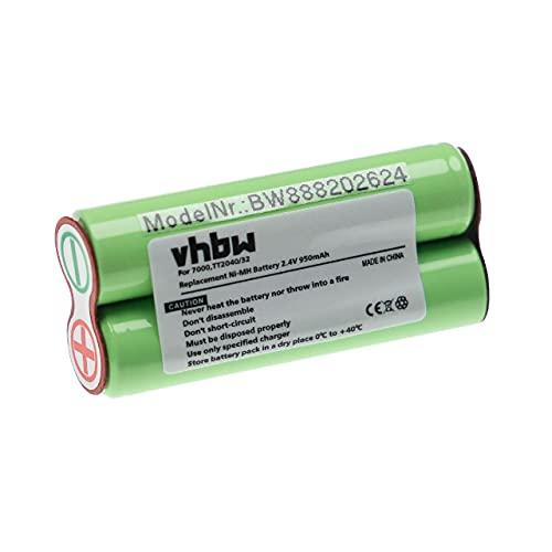 vhbw Batería recargable compatible con Philips Bodygroom BG2024/32, BG2026/32, BG2036/32 afeitadora, cortadora de pelo (950 mAh, 2,4 V, NiMH)