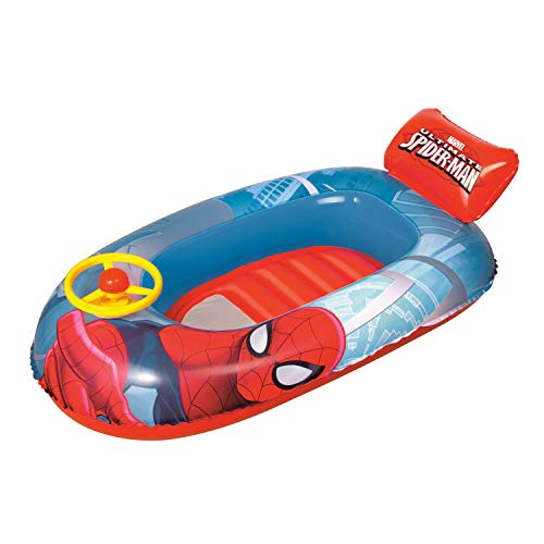 Bestway 98009 - Barca Hinchable Infantil Spiderman 112x71