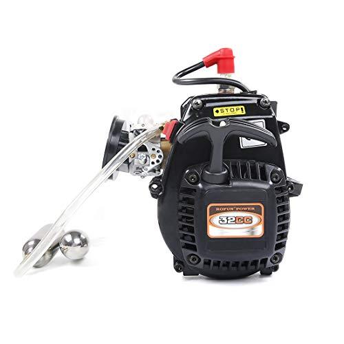 Leic Rofun Benzinmotor Modell 32CC Druckerhöhungspumpe Einzylinder 2-Takt Motor für 1/5 RC Benzin Modellauto