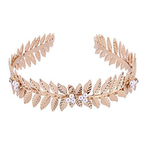 1 diadema de hojas para el pelo, corona de aros femeninos, joyería para mujeres y niñas