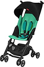 gb Pockit+ Lightweight Baby Stroller, Umbrella Stroller, Collapsible, Travel-Friendly, Folds into Backpack, Fits in Overhead Compartments, Reclining Seat, UPF50+ Sun Canopy, Laguna Blue