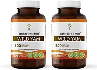 Wild Yam 120 Capsules(2 pcs.), 800 mg, Organic Wild Yam (Dioscorea Villosa) (2x120 Capsules)