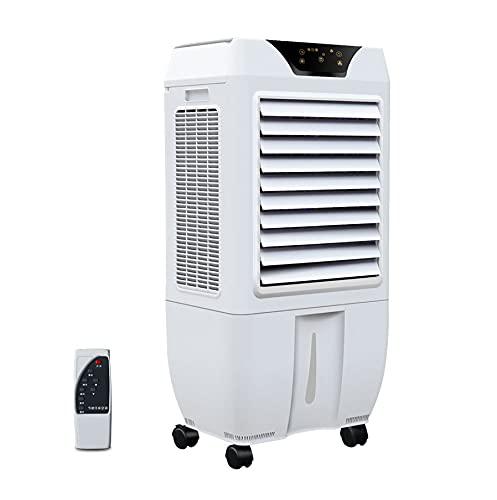 Ventilatore Evaporativo Portatile per Condizionatore D'aria, Grande Condizionatore D'aria, 3 Velocità, Timer, Telecomando, Ventilatore per Condizionatore per Tutta La Stanza Casa e Ufficio