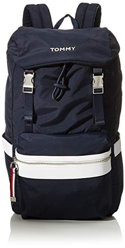 Tommy Hilfiger Damen Backpack Rucksack aus Nylon, Himmelskapitän/Weiß, OS