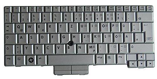 NExpert Original QWERTZ Tastatur für HP Compaq 2710p Serie DE Neu Silber