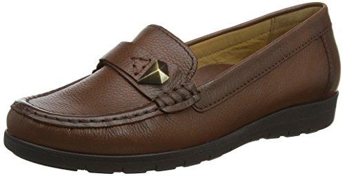 Gabor Shoes Damen Casual Mokassin, Braun (22 Caramello (Effekt), 42 EU