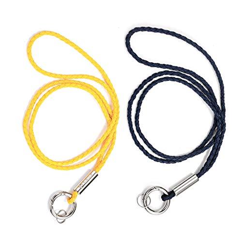 2 Stück Lanyards Schlüsselanhänger Schlüsselband Key Chain Long Lanyard Schlüsselband mit Sicherheitsverschluss, Schlüsselring mit starkem Clip