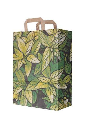 Papiertragetaschen mit Flachhenkel Geschenktüten Papiertüten Tragetaschen Shopper Motiv: