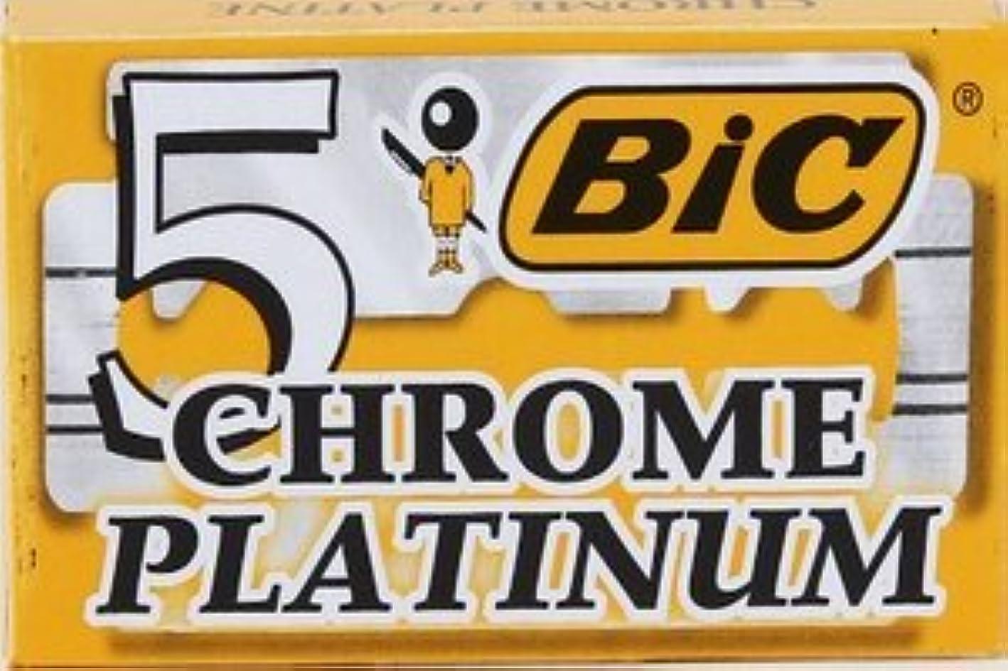 事実餌角度BIC Chrome Platinum 両刃替刃 5枚入り(5枚入り1 個セット)【並行輸入品】