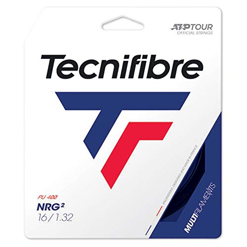 Tecnifibre NRG2SPL Set de Cuerdas para Raqueta de Tenis, Negro