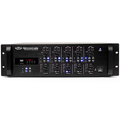 Learn More About Pure Resonance Audio RZMA120BT 4 Zone 120W Bluetooth Commercial Rack Mount Multi Zo...