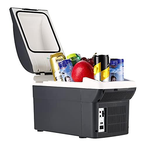 Refrigerador para Automóvil De 8 L Diseño De Bajo Ruido, Refrigerador Pequeño, Semiconductor Ahorro De Energía Refrigerador De 12 V Refrigerador Portátil para Automóvil De Doble Uso Frío Y Caliente