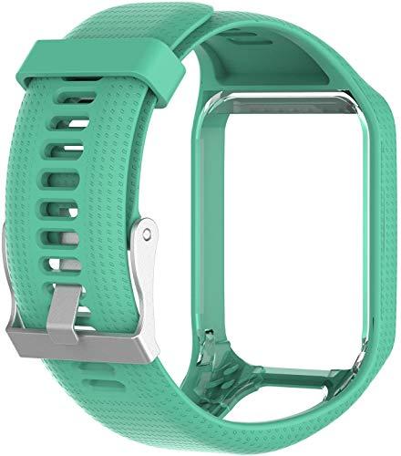Axcellent Banda para Tomtom Runner 2 3,Spark 3,Golfer 2,Adventurer - Muñequera con Correa de Repuesto de Silicona - Accesorios para Reloj Inteligente con GPS