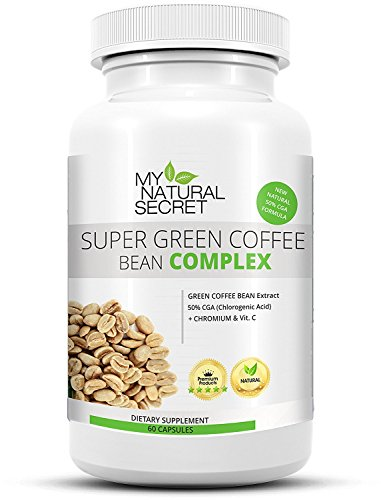 Super Green Coffee Bean Extract + Hyper HD Complex – Grüner Kaffee Extrakt Kapseln mit Vitamin C  und Chrom