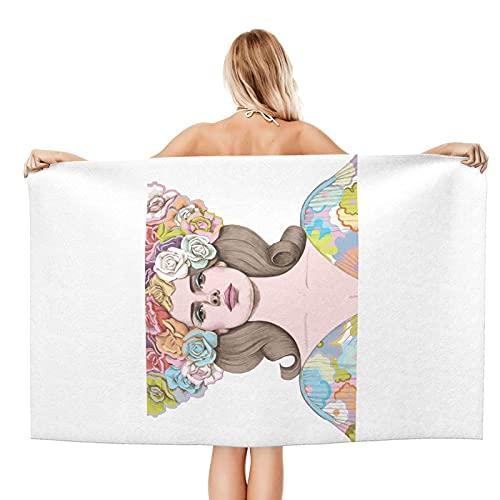 Lana-Del-Rey Strandtücher, Mikrofaser-Strandtücher, superweiche, saugfähige und schnell trocknende Handtücher, Plüsch-Strandtücher, verwendet für Pool-Camping-Yoga.