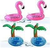 BESTZY Soporte hinchable para bebidas, 10 unidades flotantes, para fiesta de baño, posavasos para cerveza, soporte para bebidas hinchable con bomba de aire para la piscina