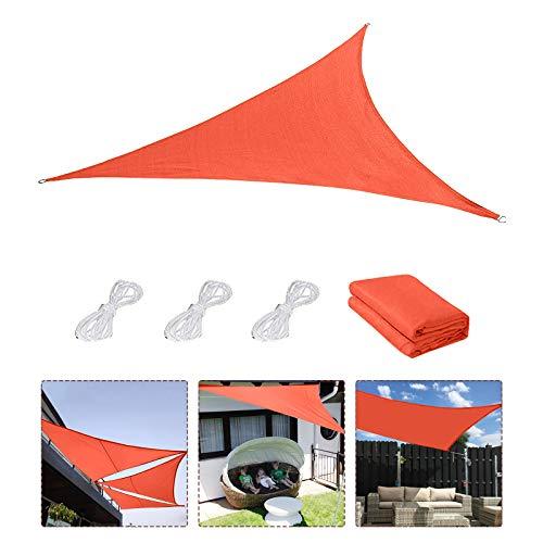 Sonnensegel,Sonnenschutz Sonnendach Windschutz mit UV Schutz wetterbeständig Segel Schatten UV-Schutz sonnensegel Dreieckig für Garten Outdoor Terrasse...