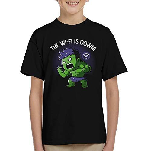 Geen WiFi Angry Superhero Kid's T-shirt