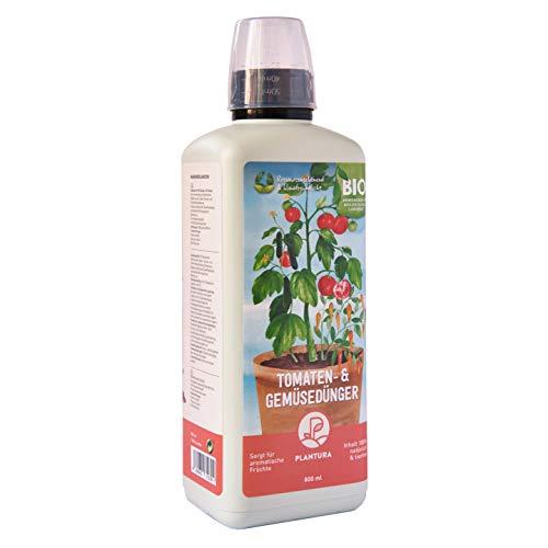 Plantura Bio Tomaten- & Gemüsedünger, Bio Flüssigdünger für Gemüse, 800 ml