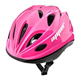 meteor Casco Bici Ideale per Bambini e Adolescenti Caschi Perfetto per Downhill Enduro Ciclismo MTB Scooter Helmet Ideale per Tutte Le Forme di attività in Bicicletta Helmo (S (48-52 cm), KS07 Pink)