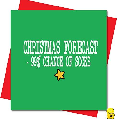 Divertida tarjeta de Navidad para papá hermanos hijo marido - 99% de probabilidad de calcetines XM207