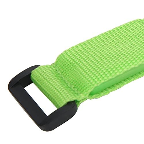 Wosune Brazalete con luz, Brazalete con LED, Brazalete con LED para Ciclismo, Brazalete con LED Ajustable, Correas de Nailon para Acampar, pasear Perros, Correr(Green)