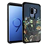 Nightmare Before Christmas Galaxy S9+ Plus Case, IMAGITOUCH 2-Piece Style Armor Case with Flexible Shock Absorption Case Cover for Samsung Galaxy 9+ Plus – Nightmare Before Christmas Hybrid