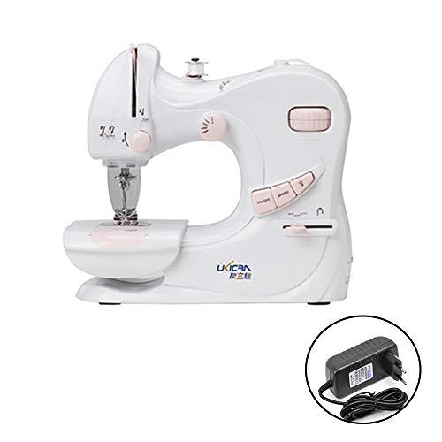 Lechnical Mini máquina de coser doméstica multifuncional Máquina de coser doméstica Máscara Hemline Mini máquina de coser Sartorius ajustable de 2 velocidades