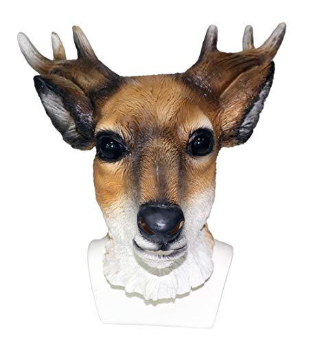 ZENGYUAN máscara de Reno de Halloween para Maquillaje, Fiesta de Disfraces, Accesorio Divertido para exhibición de Animales