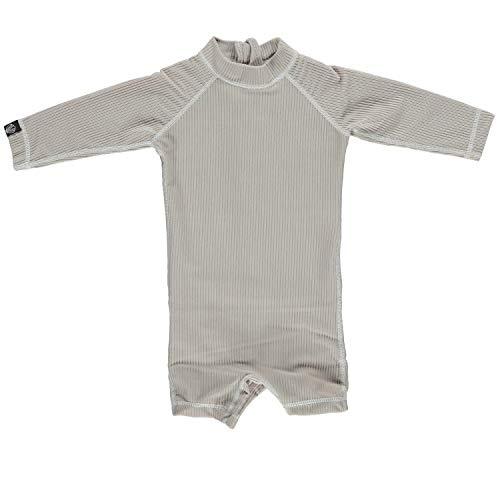 Beach & Bandits Maillot de bain UV pour bébé Collection Ribbed Sable - Beige - 6 mois