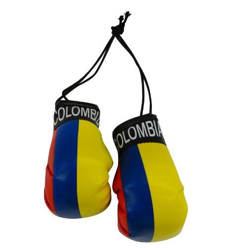 SUPERDAVVES SUPERSTORE Mini Boxhandschuhe mit Kolumbienen-Flagge zum Aufhängen über Ihrem Autospiegel