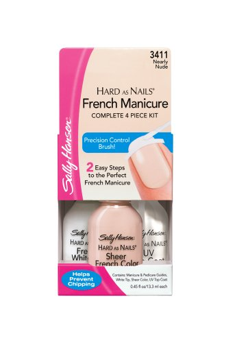 Sally Hansen Hard as Nails French Manicure, Nearly Nude, 0.45 Ounce