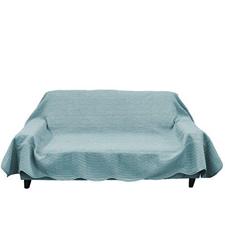 ボーマ(BOMA) 綿パイルマルチカバー ブルーグレー 190×280cm さらさらタオル素材 吸湿性抜群夏場でも快適、家庭洗濯可