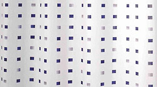 GRUND Duschvorhang PIAZZE 180x200 cm weiss-blau