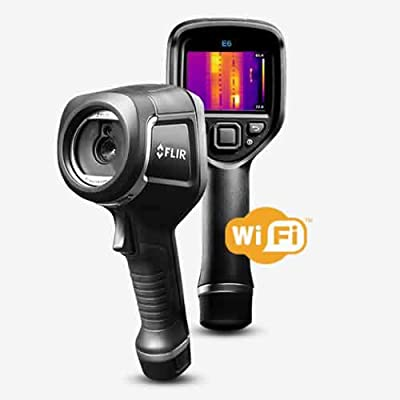 FLIR E6-XT Infrared (IR) Camera with Extended Temperature Range, MSX Technology, and WiFi, 240 x 180, 9 Hz