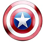Captain America 20-inch Metal Shield Cosplay Role-Playing Props Red