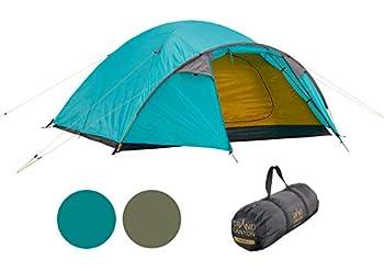 Grand Canyon TOPEKA 4 - Tente dôme pour 4 personnes   ultra-légère, étanche, petit format   tente pour le trekking, le camping, l'extérieur   Blue Grass (Bleu)