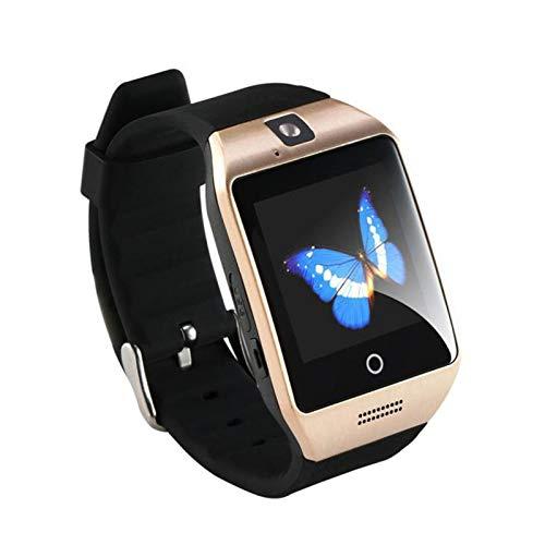 XUEXIU Bluetooth Smart Camera Watch gsm Cámara Enchufable TF Teléfono Watch para Android Y iPhone Pulsera Inteligente Compatible (Color : Gold)