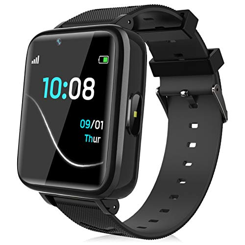 Kids Smartwatch for Boys Girls – Kids Smart Watch Phone Touch Screen with Calls Games Alarm Music Player Camera SOS Calculator Calendar Children Toys Birthday Gifts for 4-12 Years Students (Black)