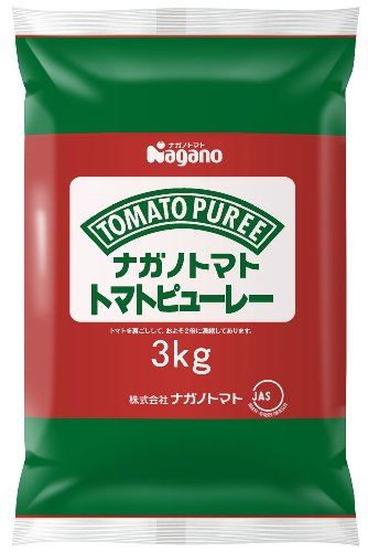 ナガノトマト トマトピューレー 3kg 業務用パウチピロータイプ