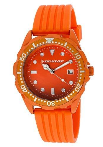Dunlop Unisex Erwachsene Analog Quarz Uhr mit Gummi Armband DUN184L08