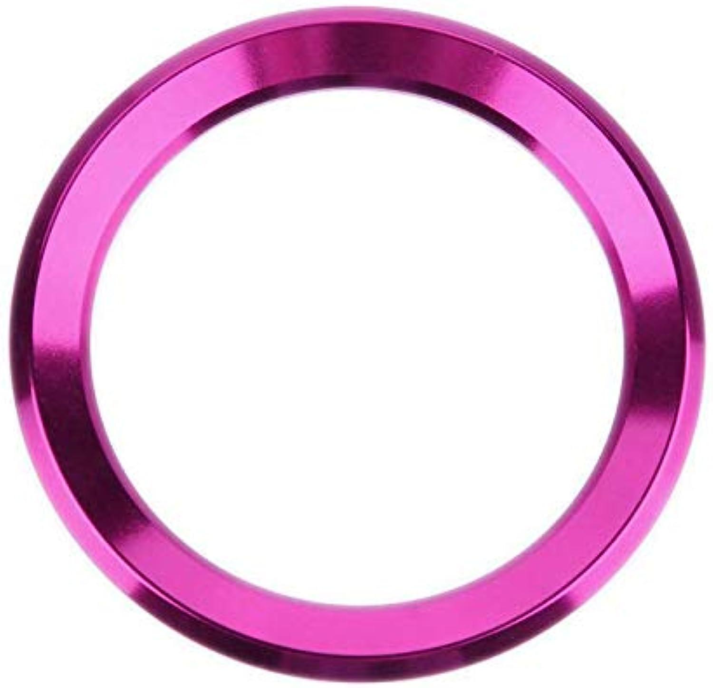 FidgetGear Ring for BMW Steering Wheel Logo Aluminum Sticker for E39 E36 E60 E90 E34 E46 Pink