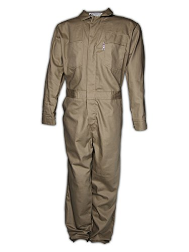 Magid Safety 3540KHM A.R.C. NFPA 70E Standard Coveralls, Medium, Khaki