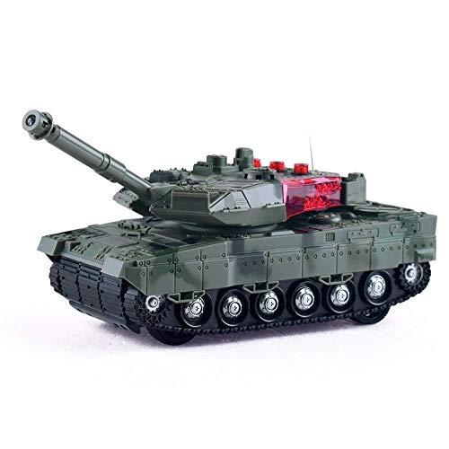 ADLIN Al aire libre Juguetes educativos, Tanque de Rc con cargador USB cable de control remoto del tanque Panzer 1:72 alemán Tiger I con sonido, la torreta giratoria y la acción de retroceso Cuando ca