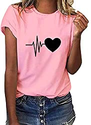 QUALITY MATERIAL - This graphic shirts is made of soft and lightweight premium blended cotton.Soft, elegant, skin-friendly and durable enough for your daily wear.No itching,irritation or chafing,good sweat-absorption, loose fit, opaque.Keeps you cool...