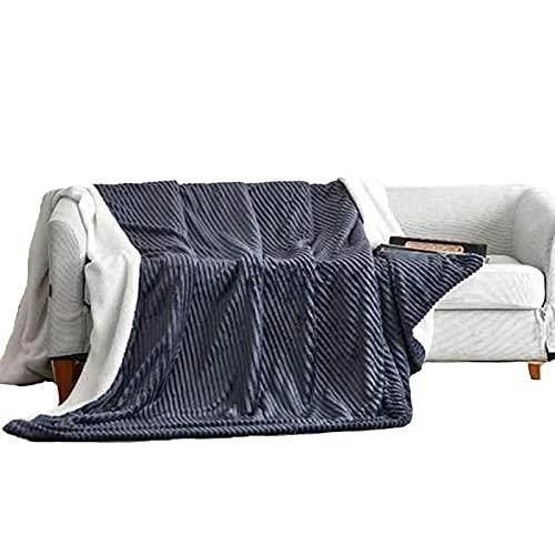 HEWAN Manta de Franela Suave y cálida Doble Capa con Cremallera Mantas cálidas Multiusos de Doble Uso Funda nórdica para sofá Cama Dormitorio Uso de Oficina Retro Gray- 180x200cm