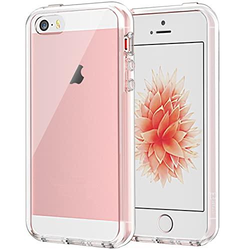 JETech Funda Compatible iPhone SE 2016 (NO es Compatible 2020) 5s 5, Carcasa Anti-Choques/Arañazos (Transparente)