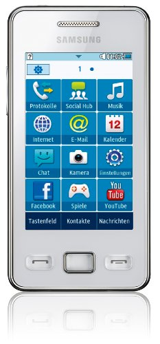 Samsung Star II S5260 Smartphone (7,62 cm  (3 Zoll) Touchscreen, 3MP Kamera, MP3-Player, WLAN, Bluetooth, t9-Trace) ceramic-white