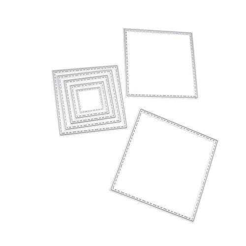 Cute Lace Square Set Cutting Dies Set Metal Stencil Template Block DIY Paper Card